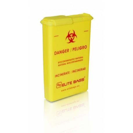 Contenedor de bolsillo de material biocontaminado